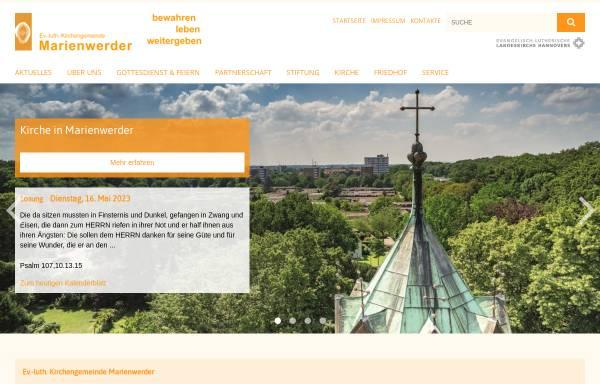 Vorschau von www.marienwerder.de, Kirche in Marienwerder