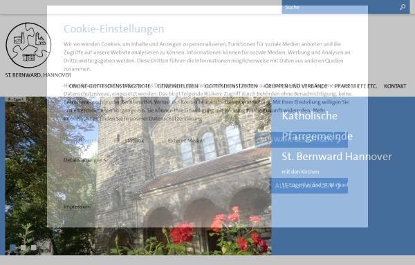 Vorschau von www.st-bernward-hannover.de, Katholische Kirchengemeinde St.Bernward