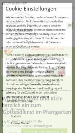 Vorschau der mobilen Webseite www.sankt-augustinus-hannover.de, Katholische Pfarrgemeinde St. Augustinus