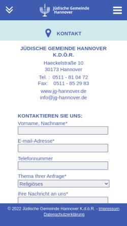Vorschau der mobilen Webseite de.wikipedia.org, Jüdischer Friedhof Bothfeld - Wikipedia