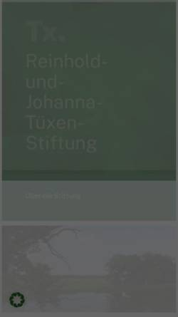 Vorschau der mobilen Webseite reinhold-tuexen-gesellschaft.de, Reinhold-und-Johanna-Tüxen-Stiftung
