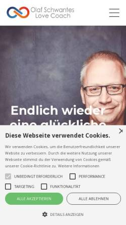 Vorschau der mobilen Webseite www.olaf-schwantes.de, Olaf Schwantes - Paartherapeut und Business-Coach