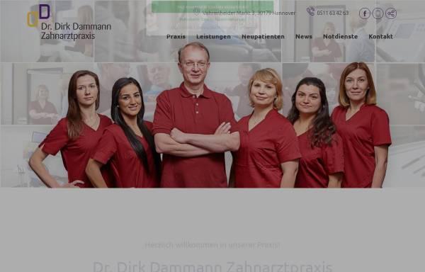Vorschau von www.zahnarzt-dammann-hannover.de, Zahnarztpraxis Dr. Dirk Dammann