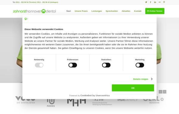 Vorschau von zahnarzthannover.dental, Zahnarzt Hannover Dental