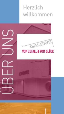 Vorschau der mobilen Webseite www.xn--galerie-zufall-glck-mbc.de, Galerie vom Zufall und vom Glück - Gesellschaft für Kunstförderung in Niedersachsen e.V.