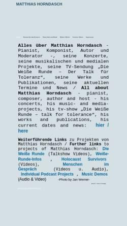 Vorschau der mobilen Webseite www.mhorndasch.de, Matthias Horndasch