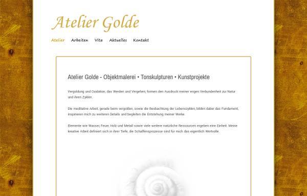 Vorschau von www.atelier-golde.de, Atelier Golde - Künstlerin Renate Golde