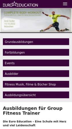 Vorschau der mobilen Webseite www.euro-education.com, Euro Education
