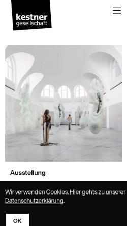 Vorschau der mobilen Webseite www.kestnergesellschaft.de, Kestnergesellschaft