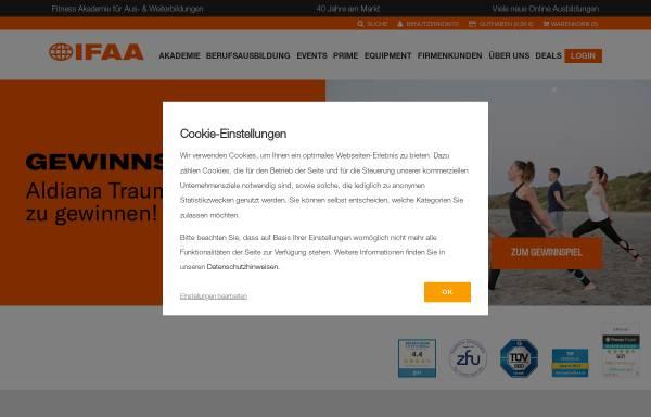 Vorschau von www.ifaa.de, Internationale Fitness und Aerobic Akademie [IFAA]