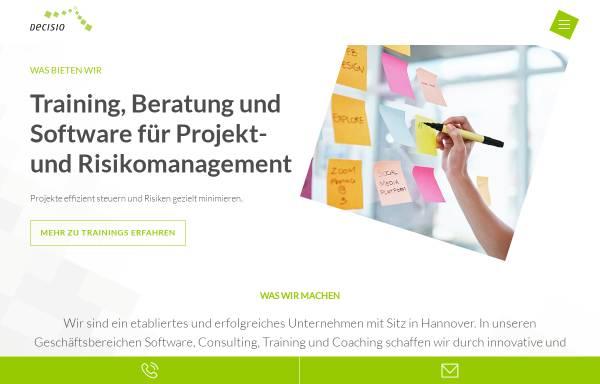 Vorschau von www.decisio.de, Decisio Unternehmensberatung GmbH