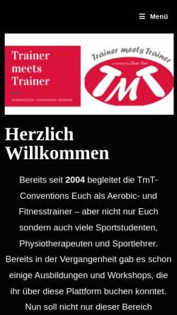 Vorschau der mobilen Webseite www.trainer-meets-trainer.de, Trainer Meets Trainer