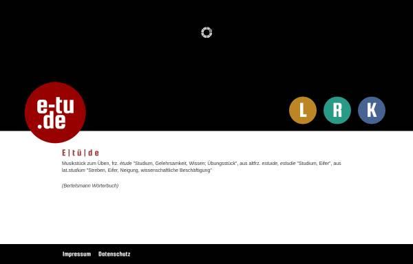 Vorschau von www.e-tu.de, Screendesign, Karsten Wirths