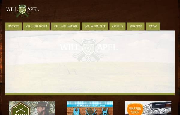 Vorschau von www.will-apel.de, Waffen Will & Apel GmbH