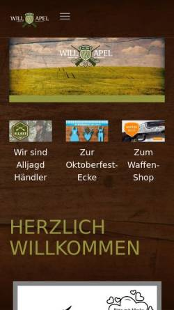 Vorschau der mobilen Webseite www.will-apel.de, Waffen Will & Apel GmbH