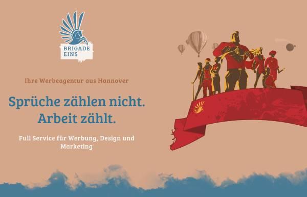 Vorschau von www.brigade-eins.de, Brigade Eins Werbeagentur