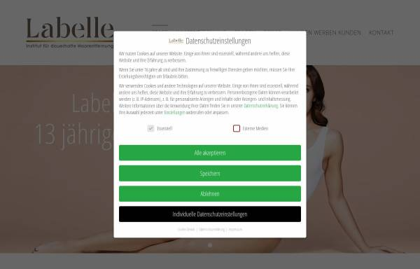Vorschau von www.labelle-haarentfernung.de, Labelle cosmetics - Inh. Suzan Aksoy