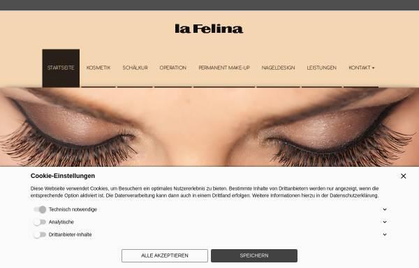 Vorschau von la-felina-kosmetik.de, La Felina Kosmetikstudio - Inh. Rena Lakomy