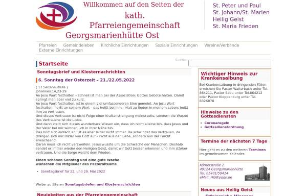 Vorschau von www.gvoh.de, Gemeindeverbund-Oesede-Harderberg