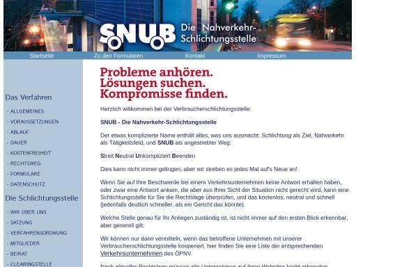 Vorschau von www.nahverkehr-snub.de, Schlichtungsstelle Niedersachen und Bremen e.V.