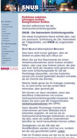 Vorschau der mobilen Webseite www.nahverkehr-snub.de, Schlichtungsstelle Niedersachen und Bremen e.V.