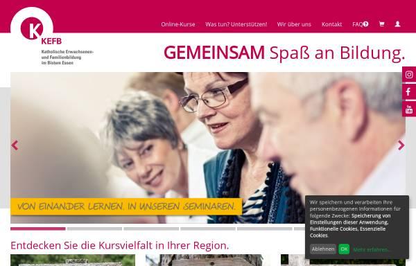Vorschau von www.kefb-bistum-essen.de, Katholische Erwachsenen- und Familienbildung im Bistum Essen gGmbH