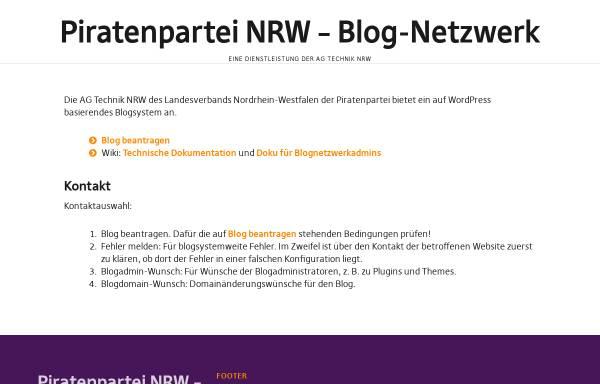 Vorschau von blog.piratenpartei-nrw.de, Piratenpartei, Landesverband Nordrhein-Westfalen