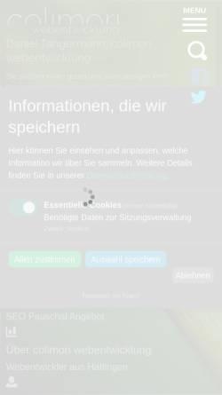 Vorschau der mobilen Webseite colimori-webentwicklung.de, Colimori Webentwicklung