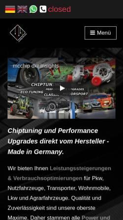 Vorschau der mobilen Webseite mcchip-dkr.com, Mcchip-dkr GmbH & Co. KG