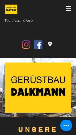 Vorschau der mobilen Webseite www.dalkmann.de, Dalkmann Gerüstbau GmbH & Co. KG