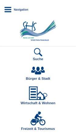 Vorschau der mobilen Webseite www.schlossholtestukenbrock.de, Stadt Schloß Holte-Stukenbrock