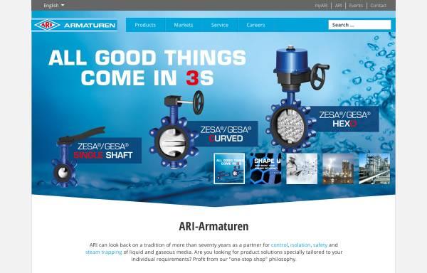 Vorschau von www.ari-armaturen.com, ARI-Armaturen Albert Richter GmbH & Co. KG