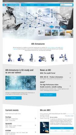 Vorschau der mobilen Webseite www.ari-armaturen.com, ARI-Armaturen Albert Richter GmbH & Co. KG