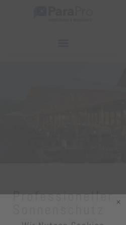 Vorschau der mobilen Webseite www.k-design.biz, K-Design Großschirme & Windschutz GmbH
