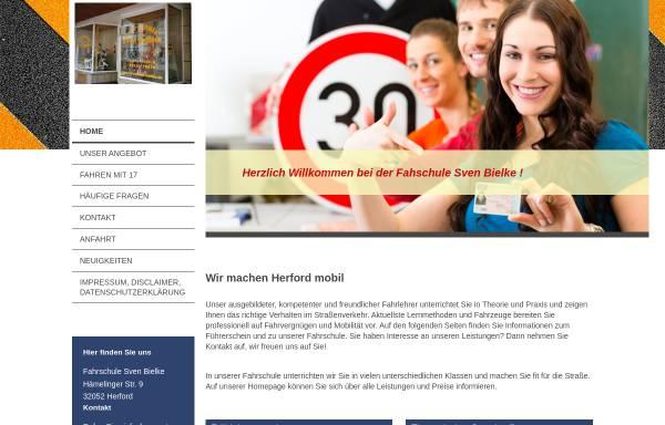 Vorschau von www.fahrschule-bielke.de, Fahrschule Bielke