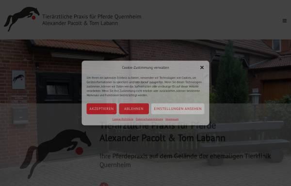 Vorschau von www.pferde-quernheim.de, Tierärztliche Praxis für Pferde, Alexander Pacolt & Tom Labann