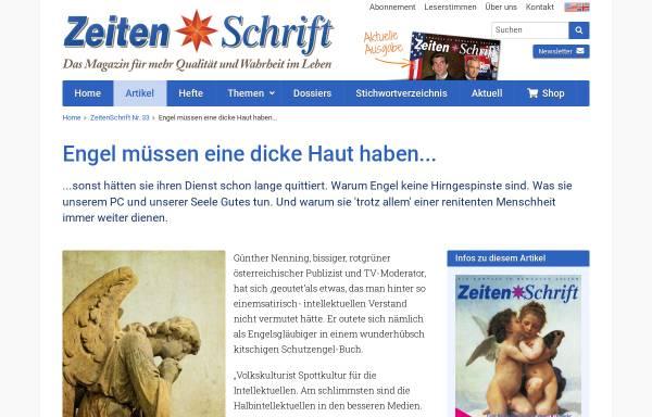 Vorschau von www.zeitenschrift.com, Engel mit dicker Haut