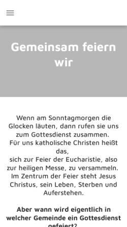 Vorschau der mobilen Webseite pvwinterberg.de, Kath. Pfarrei St. Jakobus der Ältere Winterberg