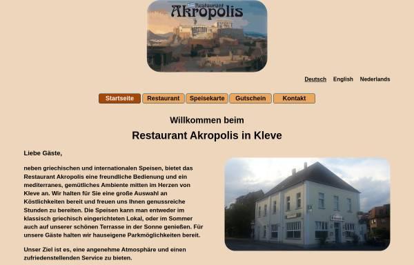 Vorschau von www.akropolis-kleve.de, Restaurant Akropolis