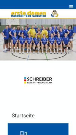 Vorschau der mobilen Webseite www.hbs-damen.de, Handball Bad Salzuflen