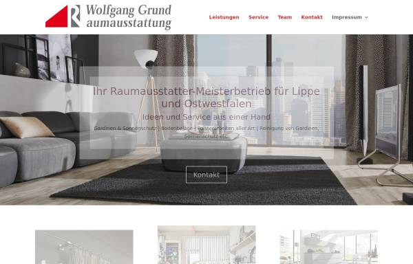 Vorschau von www.grund-wohnen.de, Raumausstattung Wolfgang Grund