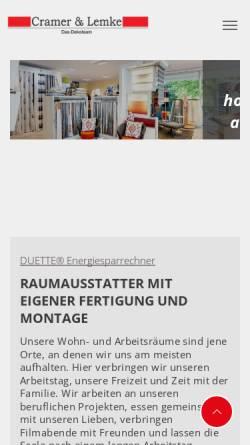 Vorschau der mobilen Webseite www.cramer-lemke.de, Cramer & Lemke