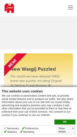 Vorschau der mobilen Webseite www.jumbo.eu, JUMBO Spiele GmbH
