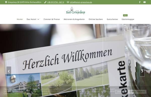 Vorschau von www.hotel-griepshop.de, Hotel Bad Griepshop