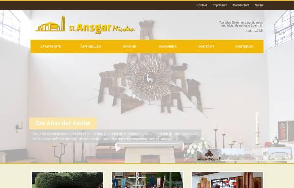 Vorschau von www.st-ansgar.de, Kath. Pfarrei St. Ansgar
