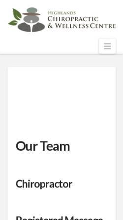 Vorschau der mobilen Webseite www.highlandschiropractic.ca, Chiropraktik Minden