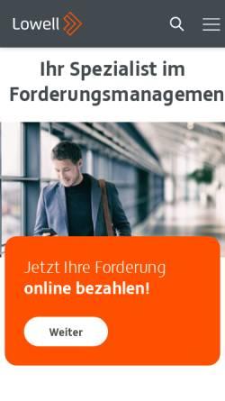 Vorschau der mobilen Webseite www.tesch-gruppe.com, Tesch Inkasso GmbH