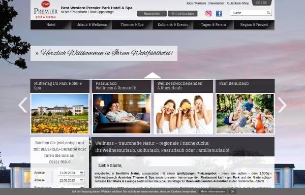 Vorschau von www.parkhotel-lippspringe.de, Best Western Premier Park Hotel