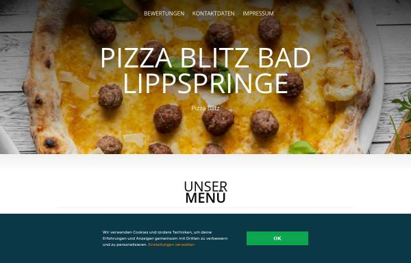 Vorschau von www.pizza-blitz-badlippspringe.de, Pizza Blitz