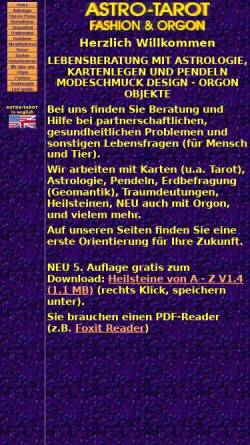 Vorschau der mobilen Webseite www.astro-tarot.ch, Astro-Tarot